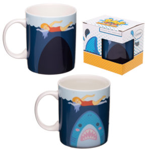 Heat Colour Changing Porcelain Mug - Shark Cafe