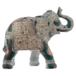 Small Decorative Turquoise and Gold Elephant