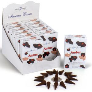 Stamford Hex Incense Cones - Amber