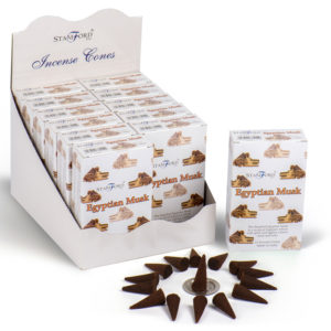 Stamford Hex Incense Cones - Egyptian Musk