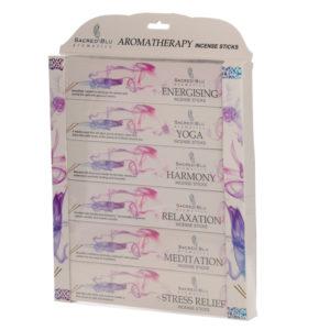 Aromatherapy Set of 6 Sacred Blu Incense Set