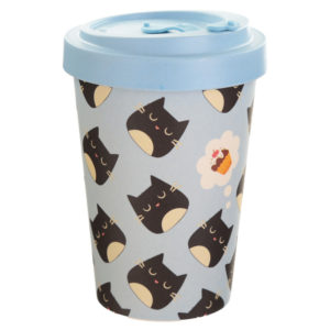 Bamboo Composite Feline Fine Cat Screw Top Travel Mug