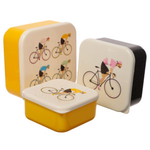Cycle Works Bicycle Set of 3 Plastic Lunch Boxes (M