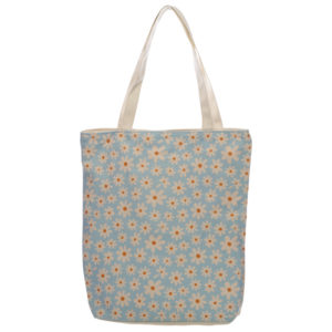 Handy Cotton Zip Up Shopping Bag - Oopsie Daisy