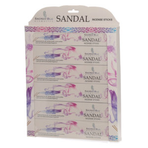 Sandal Set of 6 Sacred Blu Incense Set