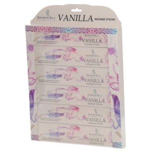 Vanilla Set of 6 Sacred Blu Incense Set